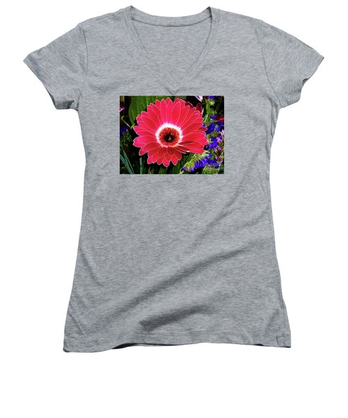 Gerbera Bella Women's V-Neck T-Shirt