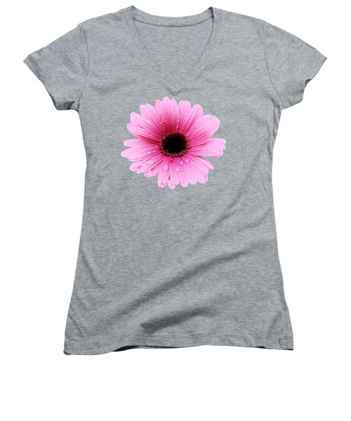 Gerbera Pink - Daisy Women's V-Neck (Athletic Fit)