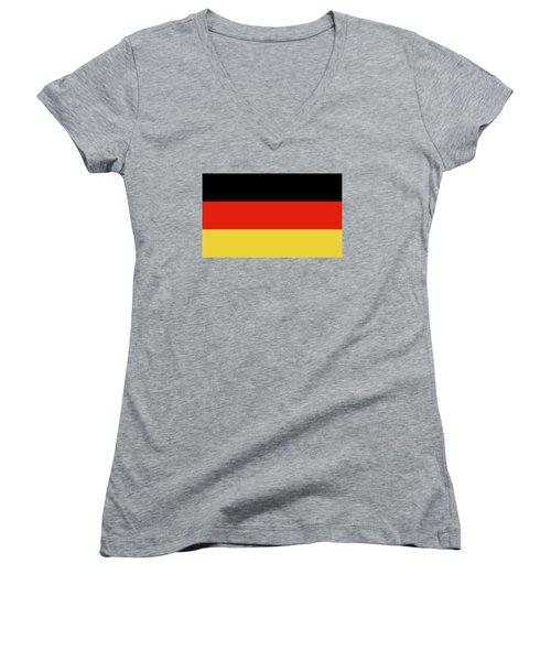 German Flag Women's V-Neck T-Shirt (Junior Cut) by Bruce Stanfield