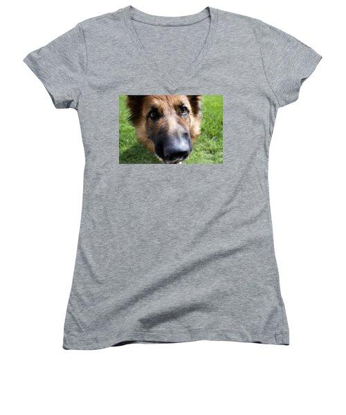 German Shepherd Dog Women's V-Neck