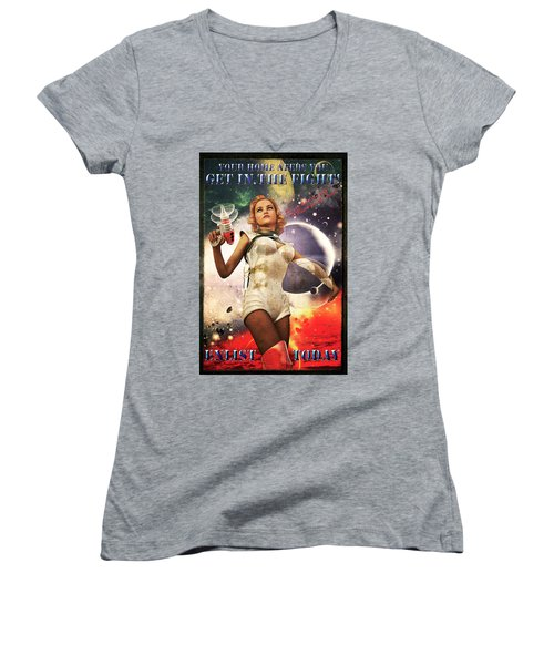 Get In The Fight Women's V-Neck