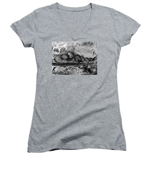 Get Into The Game Women's V-Neck T-Shirt (Junior Cut) by Tracy Bonin