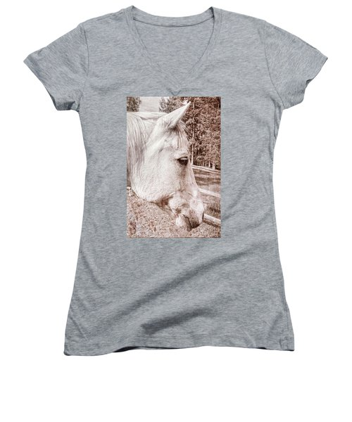Get My Good Side, Please Women's V-Neck