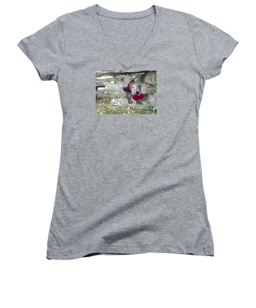 Getting Her Wings Women's V-Neck T-Shirt