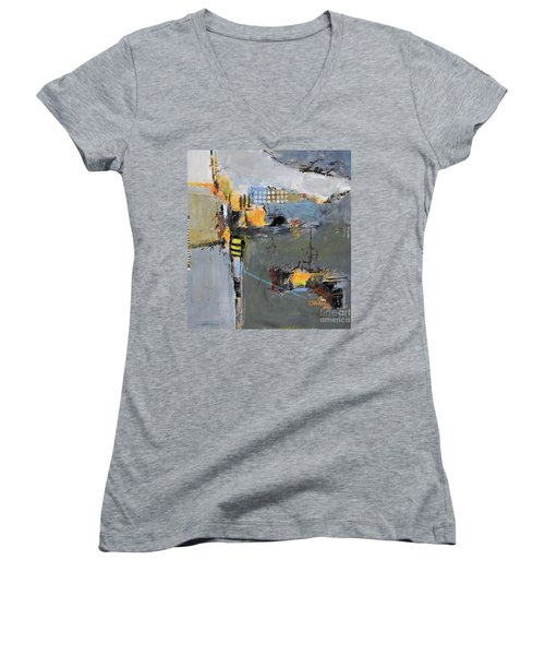 Getting There Women's V-Neck T-Shirt (Junior Cut) by Ron Stephens