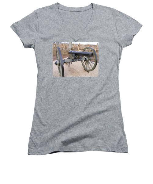Gettysburg Cannon Women's V-Neck (Athletic Fit)