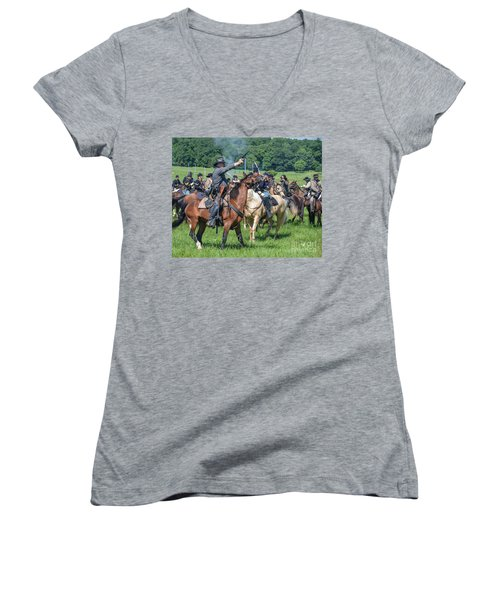 Gettysburg  Union Cavalry 7920c  Women's V-Neck (Athletic Fit)