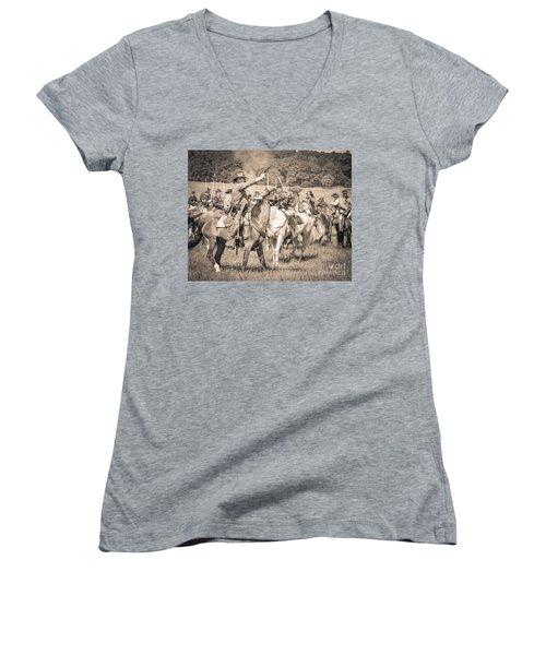 Gettysburg  Union Cavalry 7920s  Women's V-Neck