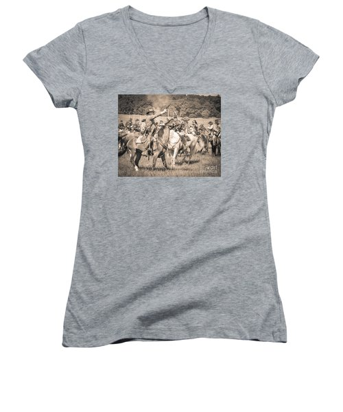 Gettysburg  Union Cavalry 7920s  Women's V-Neck T-Shirt