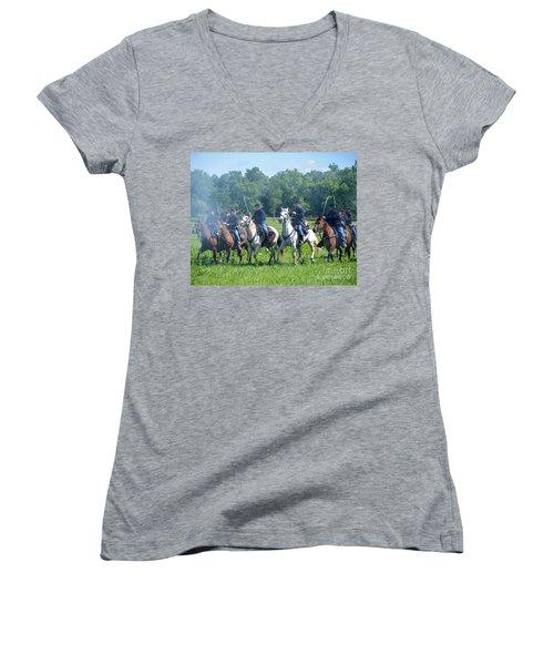 Gettysburg  Union Cavalry Women's V-Neck