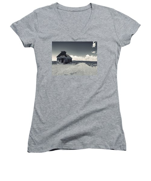 Ghost Church Women's V-Neck (Athletic Fit)
