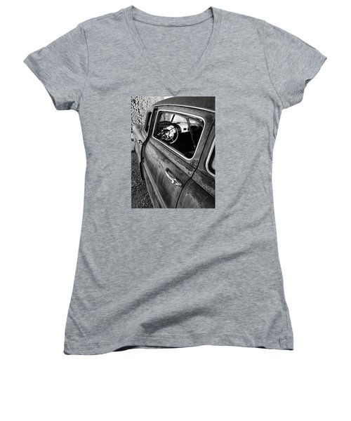 Ghost Driver Women's V-Neck (Athletic Fit)