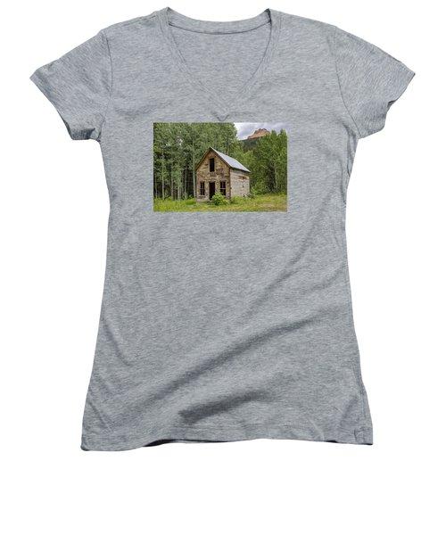 Ghost Town Schoolhouse Women's V-Neck
