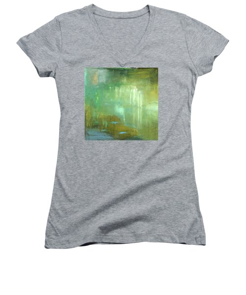 Ghosts In The Water Women's V-Neck T-Shirt (Junior Cut) by Michal Mitak Mahgerefteh