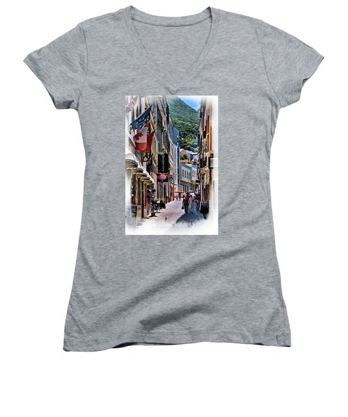 Gibraltar Women's V-Neck T-Shirt