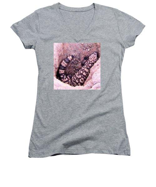 Gila Monster - Number One Women's V-Neck T-Shirt