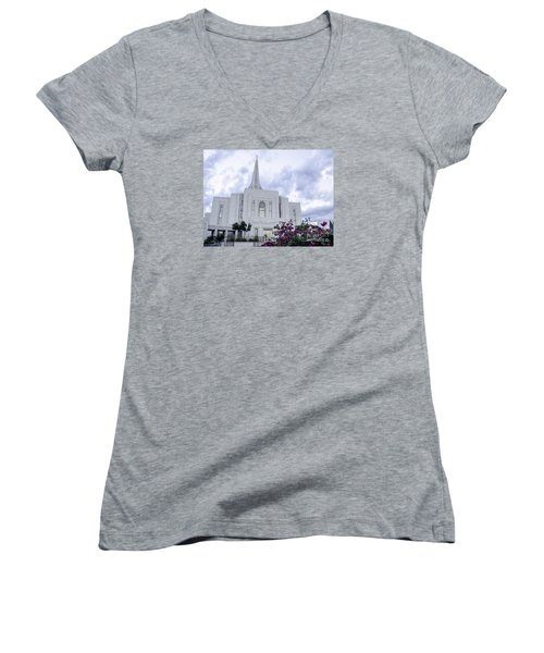 Gilbert Arizona Lds Temple 2 Women's V-Neck T-Shirt