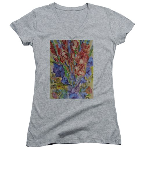 Gilded Flowers Women's V-Neck T-Shirt