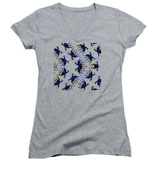 Giraffe Abstract Women's V-Neck (Athletic Fit)