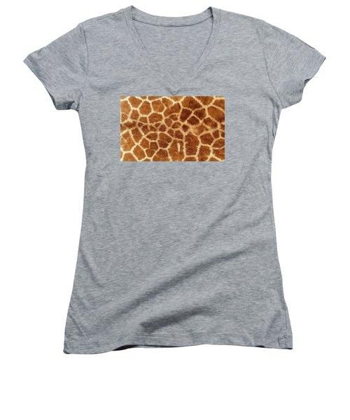Giraffe Skin Close Up 2 Women's V-Neck (Athletic Fit)