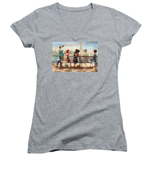 Girls Day Out Women's V-Neck (Athletic Fit)