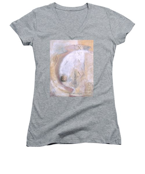 Give And Receive Women's V-Neck T-Shirt (Junior Cut) by Kerryn Madsen-Pietsch