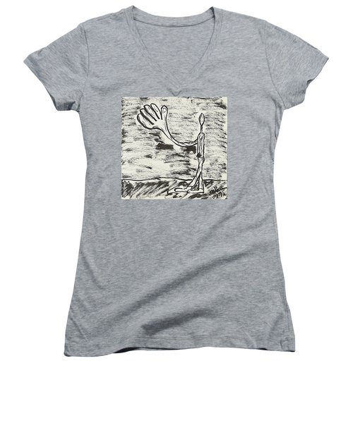 Give Me A Hand Women's V-Neck
