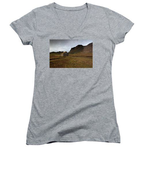 Give Me Shelter Women's V-Neck T-Shirt