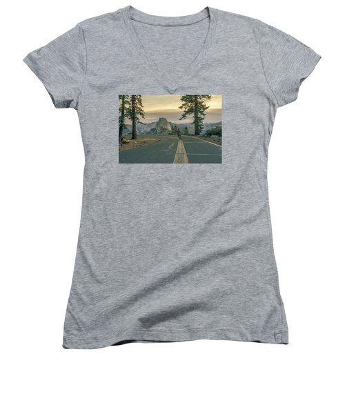 Glacier Point Adventure Women's V-Neck T-Shirt