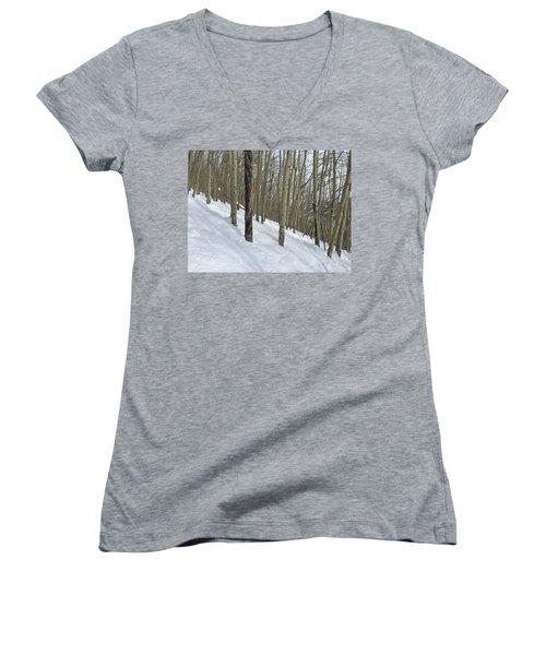 Gladed Run Women's V-Neck T-Shirt