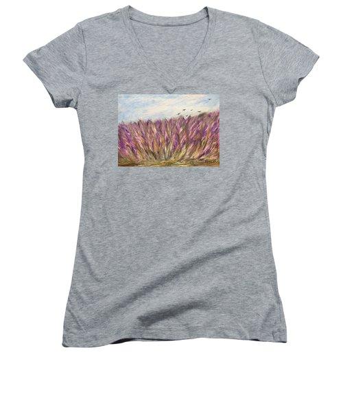 Gladiolus Field Women's V-Neck