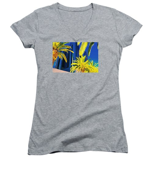 Glass And Palms Women's V-Neck (Athletic Fit)
