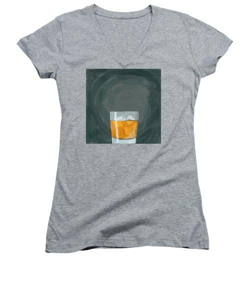 Glass, Ice,  Women's V-Neck T-Shirt (Junior Cut) by Keshava Shukla