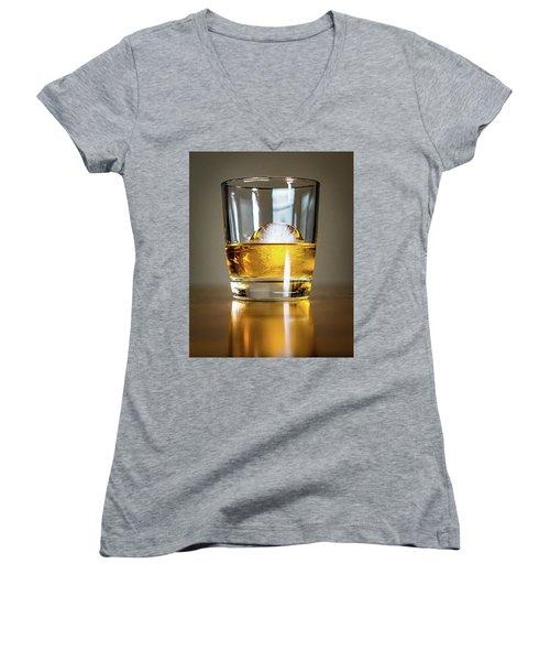 Glass Of Whisky Women's V-Neck