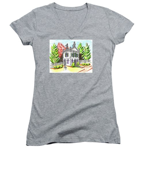 Glen Magna Farms- Derby House 2 Women's V-Neck T-Shirt