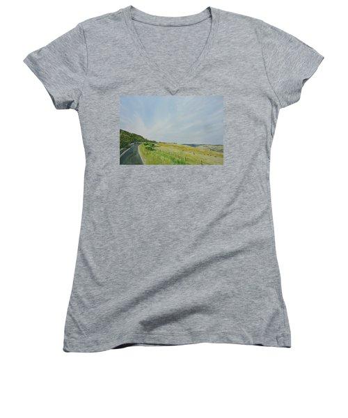 Glenaire Women's V-Neck T-Shirt