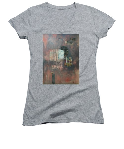 Glimpse Of Town Women's V-Neck (Athletic Fit)