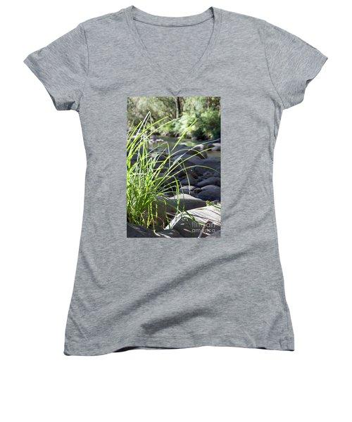 Glistening In The Sunlight Women's V-Neck T-Shirt