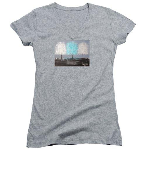 Glistening Morning Women's V-Neck T-Shirt