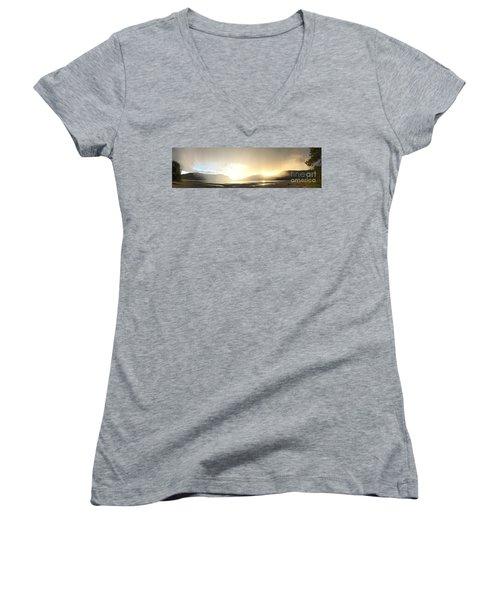Glittering Shower Women's V-Neck T-Shirt (Junior Cut) by Victor K
