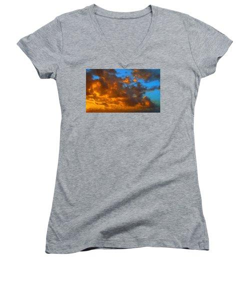 Glorious Clouds Women's V-Neck T-Shirt
