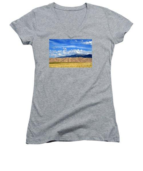 Glorious Morning 2 Women's V-Neck T-Shirt (Junior Cut) by Paula Guttilla