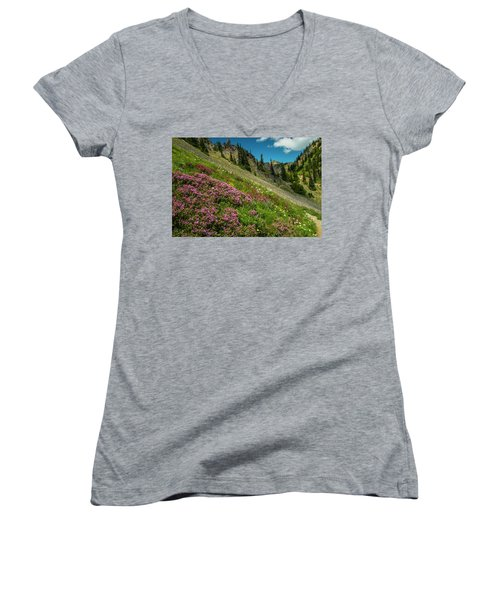 Glorious Mountain Heather Women's V-Neck (Athletic Fit)