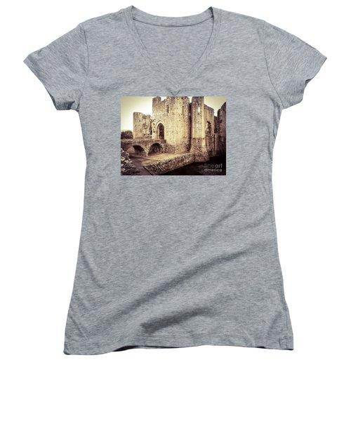 Glorious Raglan Castle Women's V-Neck