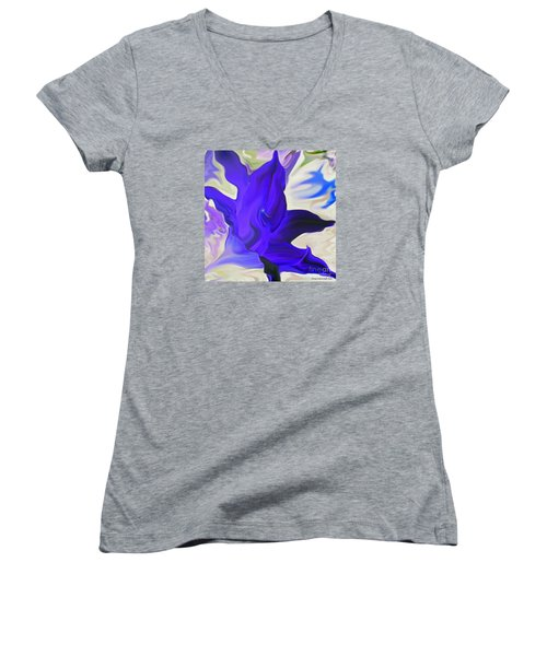 Women's V-Neck T-Shirt (Junior Cut) featuring the photograph Glory I by Patricia Griffin Brett