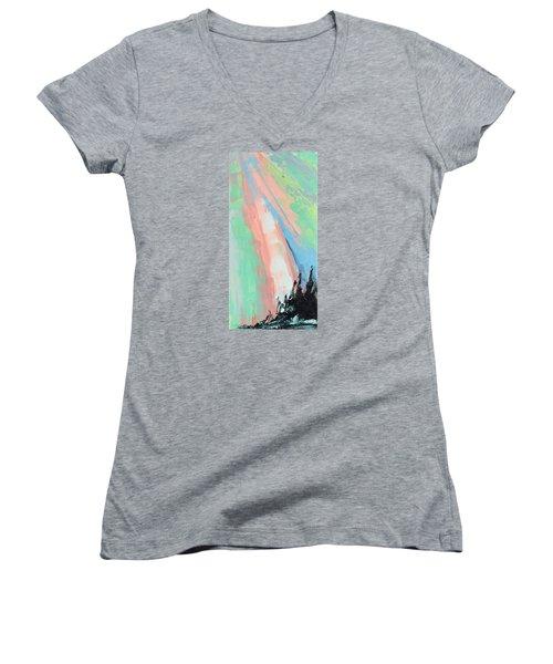 Glory Women's V-Neck T-Shirt (Junior Cut) by Nathan Rhoads
