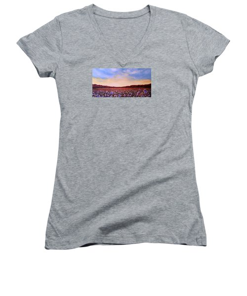 Glory Of Cotton Women's V-Neck T-Shirt (Junior Cut) by Jeanette Jarmon