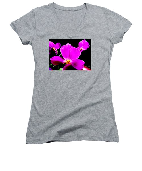 Glowing Tulips Women's V-Neck T-Shirt