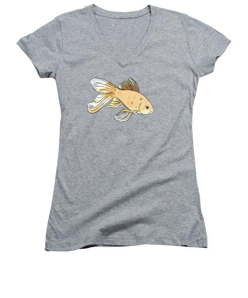 Glum Goldfish Women's V-Neck T-Shirt