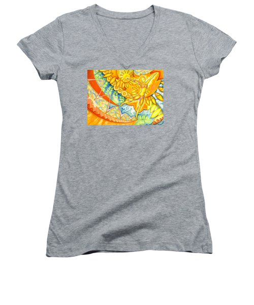 Go Confidently In The Direction Of Your Dreams Women's V-Neck (Athletic Fit)